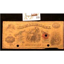"Feb. 1, 1867 Macon, Ga. ""The Macon & Brunswick Rail Road Company"" Two Dollar Bank Note with red seal"