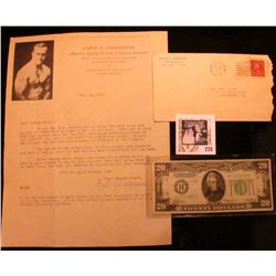 "Jan. 23, 1929 Letter with envelope from ""Earle E. Liederman America's Leading Director of Physical E"