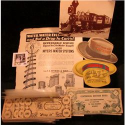 "1939 Advertising page and brochure ""The F.E. Myers & Bro. Co. Ashland, Ohio""; 1968 era Post Card dep"