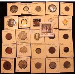 (25) Old Coins & Medals all carded in holders and attributed, including some BU & a Proof. Dates bac