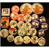 Image 1 : (25) Various Political & Local Pin-backs including Iowa and Iowa Hawkeyes.