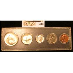 1964 P Gem BU Year set in a Snap tight case. (Five-piece).