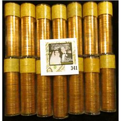 (14) 1957 Original Gem BU Solid-date Rolls of Canada Maple Leaf Cents. Each roll contains 50 pcs, al