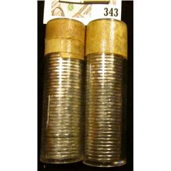 "1959 & 1960 Original Gem BU Solid-date Rolls of Canada ""Beaver"" Nickels. Each roll contains 40 pcs,"