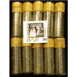 "(10) 1959 Original Gem BU Solid-date Rolls of Canada ""Beaver"" Nickels. Each roll contains 40 pcs, al"