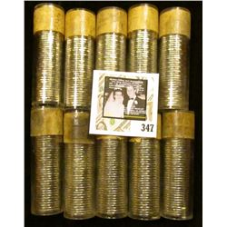 "(10) 1960 Original Gem BU Solid-date Rolls of Canada ""Beaver"" Nickels. Each roll contains 40 pcs, al"