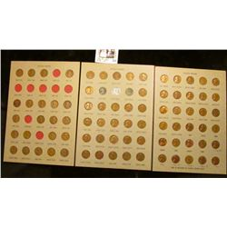 1930-65 Partial Set of Lincoln Cents in three Dansco Coin Board, ready for mounting in frames.