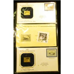 1901 Pan-American Exposition Issue 5c Bridge at Niagara Falls 22kt Gold Replica Stamp with cover & 1