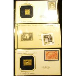 1902 Regular Issue 8c Martha Washington 22Kt Gold Replica in First Day of Issue Cover & 1924 Hugunot