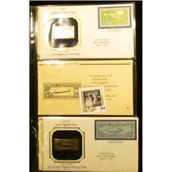 1930 Graf Zeppelin Issue $2.60 Graf Zeppelin Passing Globe 22Kt Gold Replica Stamp of First Day of I