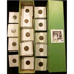 Stock Box full of Eagles & Indians, includes: 1857 Flying Eagle Cent, 1880, 83, 84, 90, 91, (4) 93,