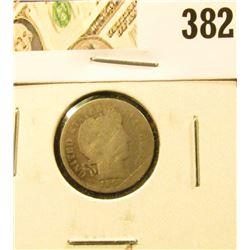 1892-O Barber Dime, AG+, value $7