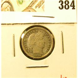 1898 Barber Dime, VF30, strong LIBERTY, value $12