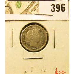 1900-S Barber Dime, VF30, tough grade for date, value $25