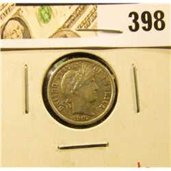 1902 Barber Dime, VF, value $8