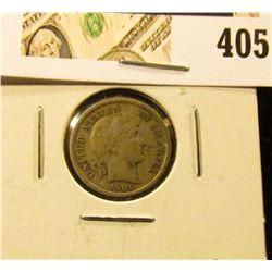 1906-S Barber Dime, F+, value $13
