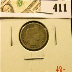 1912 Barber Dime, VF, value $8