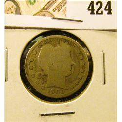 1900-S Barber Quarter, value $10