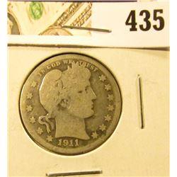 1911 Barber Quarter, G, value $9