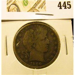 1900-O Barber Half Dollar, VG, value $25