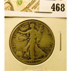1919 Walking Liberty Half Dollar, VG, better date, value $32
