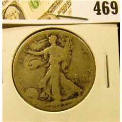 1923-S Walking Liberty Half Dollar, G, value $13