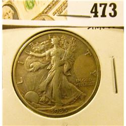 1935 Walking Liberty Half Dollar, XF, sharp, value $19