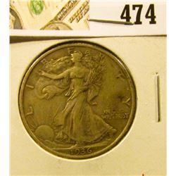 1936 Walking Liberty Half Dollar, XF, sharp, value $19