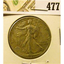 1941 Walking Liberty Half Dollar, XF, value $19