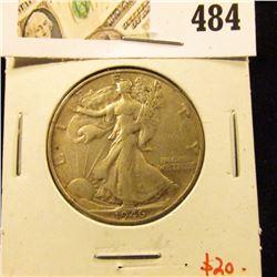 1946-S Walking Liberty Half Dollar, XF, value $20