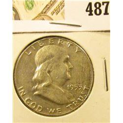 1952 Franklin Half Dollar, AU+, value $15
