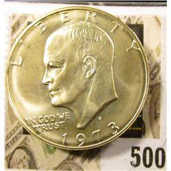 1973-S Eisenhower Dollar, 40% Silver, BU, value $14 to $18