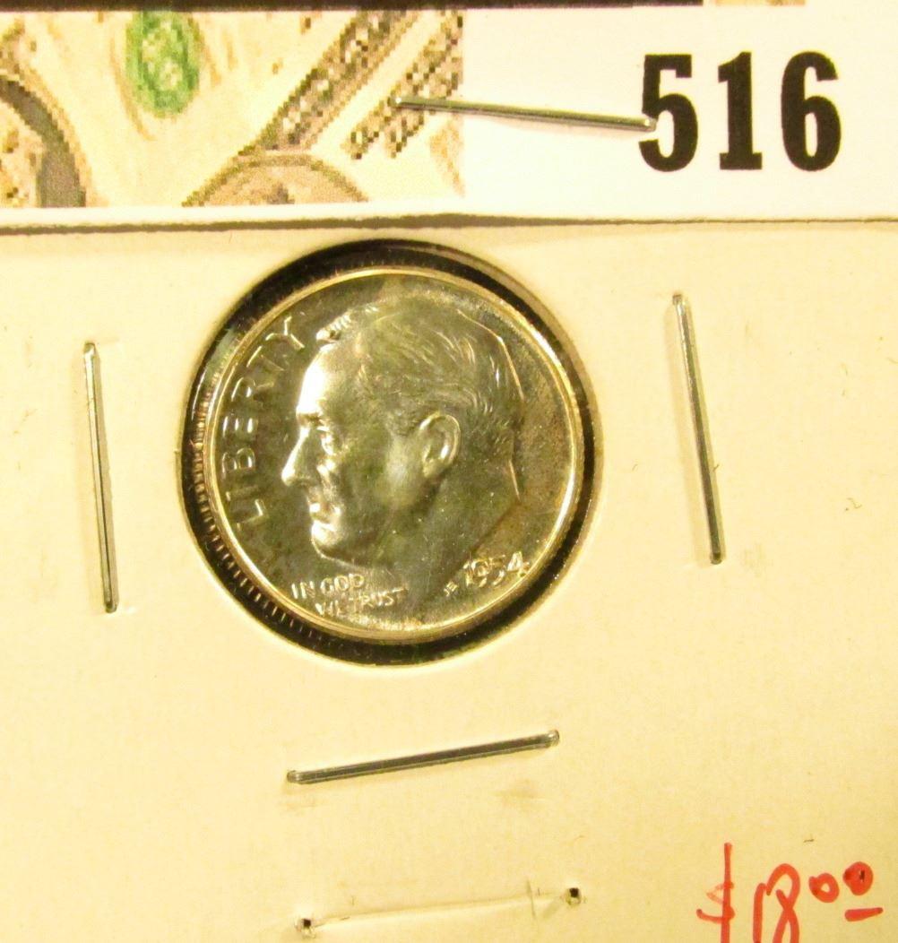 1954 Silver PROOF Roosevelt Dime, value $18