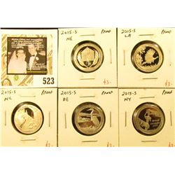 Group of (5) PROOF Washington ATB Quarters, all 5 of the 2015-S ATB Quarters, group value $15