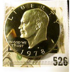 1978-S PROOF Eisenhower Dollar, value $5