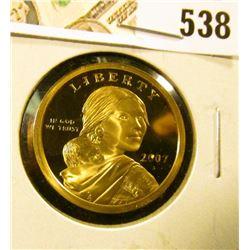 2007-S PROOF Sacagawea Dollar, value $6