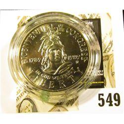 1989-D Congress Commemorative Half Dollar, BU, value $10