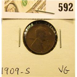 1909 S Lincoln Cent, VG.