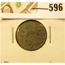 1868 Shield Nickel, VF, corrosion.