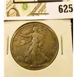 1929 D Walking Liberty Half Dollar, Fine+.