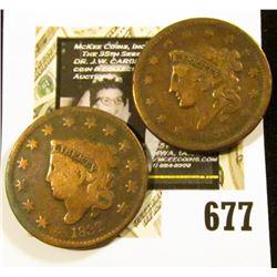 1832 & 1838 U.S. Large Cents, G-Fine.