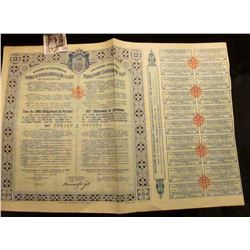 "1931 ""Royaume De Yougoslavie Emprunt International OR7% 1931 De Stabilisation"" Government Bond with"