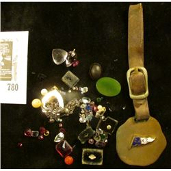 "A Watch Fob ""C.J.H.S.""; small amount of Jewelry and Semi-precious Stones removed from jewelry."