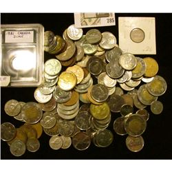 Over $50 face value in old Canada Coinage, including a fair amount of Silver.