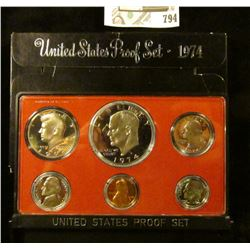 1974 S U.S. Proof set in original box of issue.