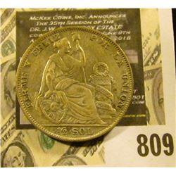 1935 Peru Half Sol, KM216, Y34, .500 fine Silver .2009 ozs. AGW, EF.