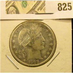 1908 O Barber Half Dollar, Fine.