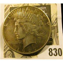1927 S U.S. Silver Peace Dollar.