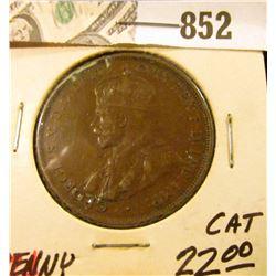 1924 Australia Copper Penny, VF.