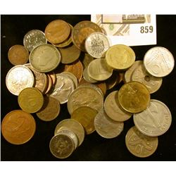 (40+) Mixed Foreign Coins from Europe, Asia, South America.